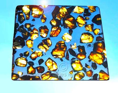 Photo of an exquisite Esquel Pallasite Meteorite