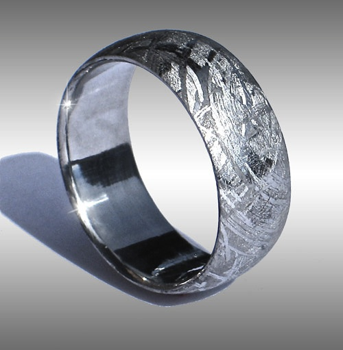 Wedding rings meteorite