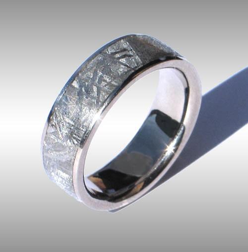 Gibeon Meteorite Mens Ring